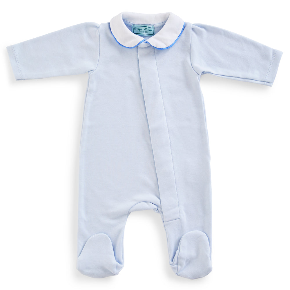 Magnet Mouse - Plate Blue Cotton Onesie
