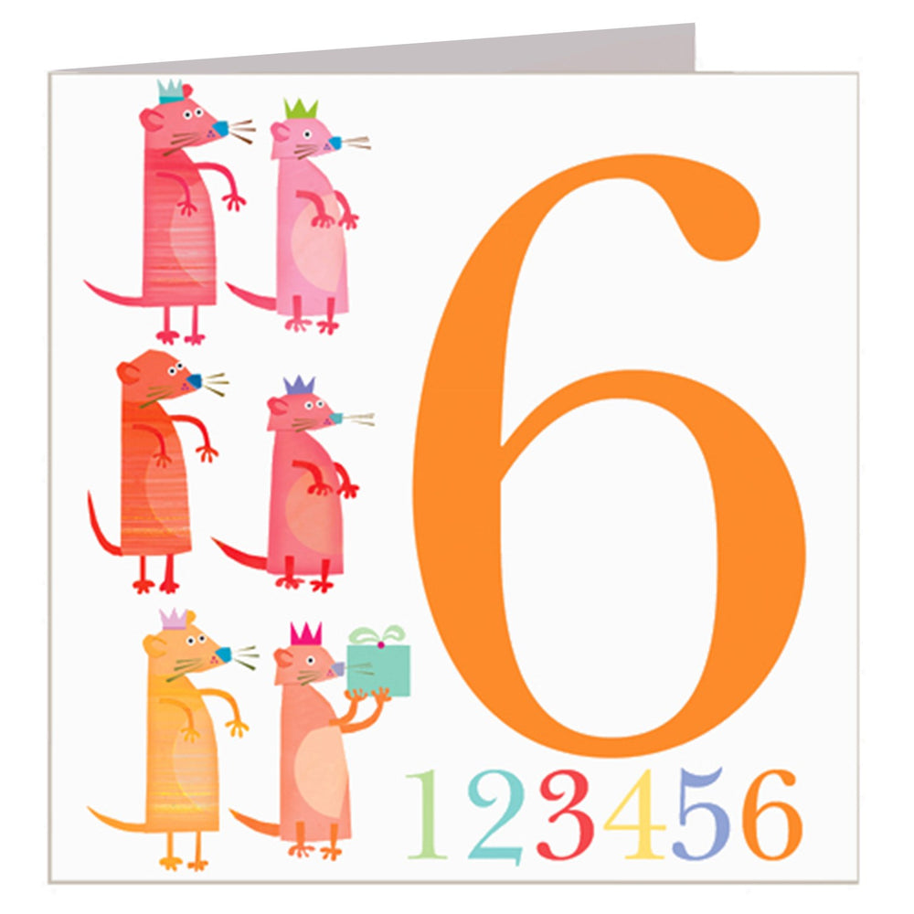Age 6 - Meercats Birthday Card