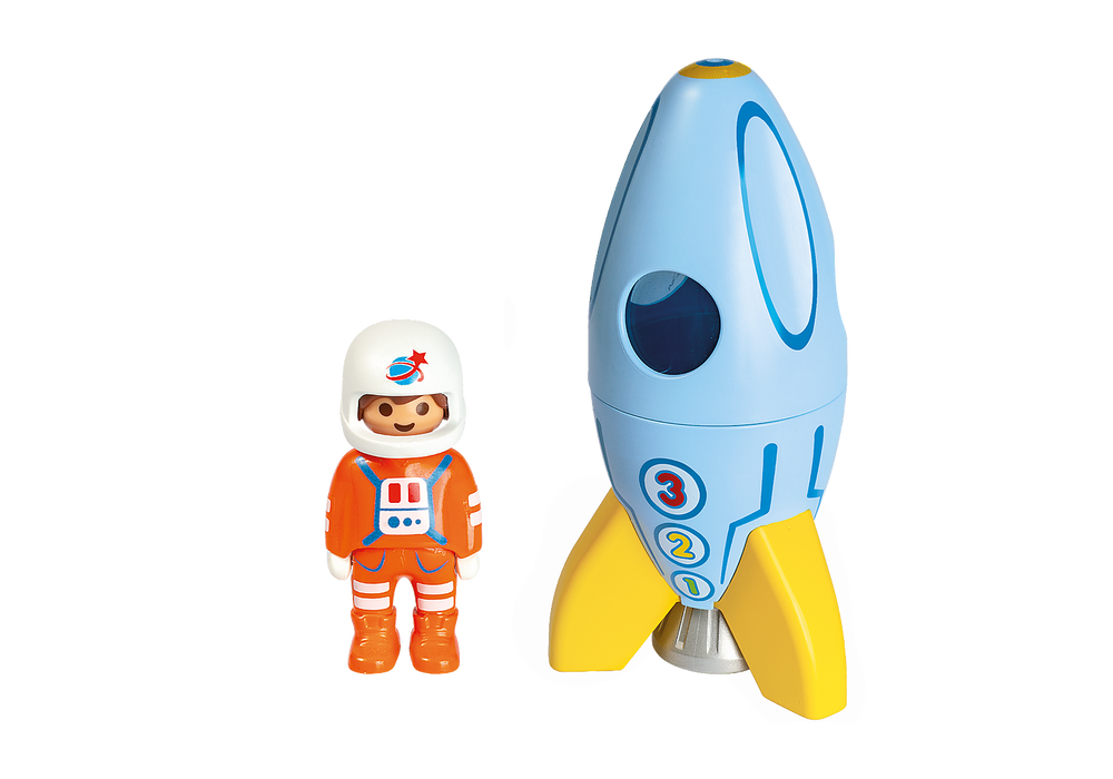 Playmobil 1.2.3. - Astronaut with Rocket