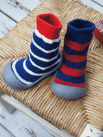 Blade and Rose - Blue Stripe Sock Shoes
