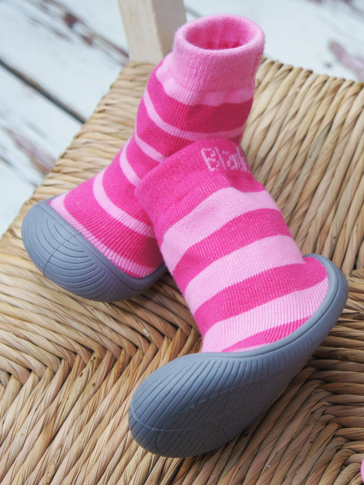 Blade and Rose - Pink Stripe Sock Shoes