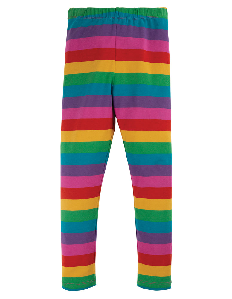 Frugi - Libby Striped Legging; Foxglove Rainbow Stripe