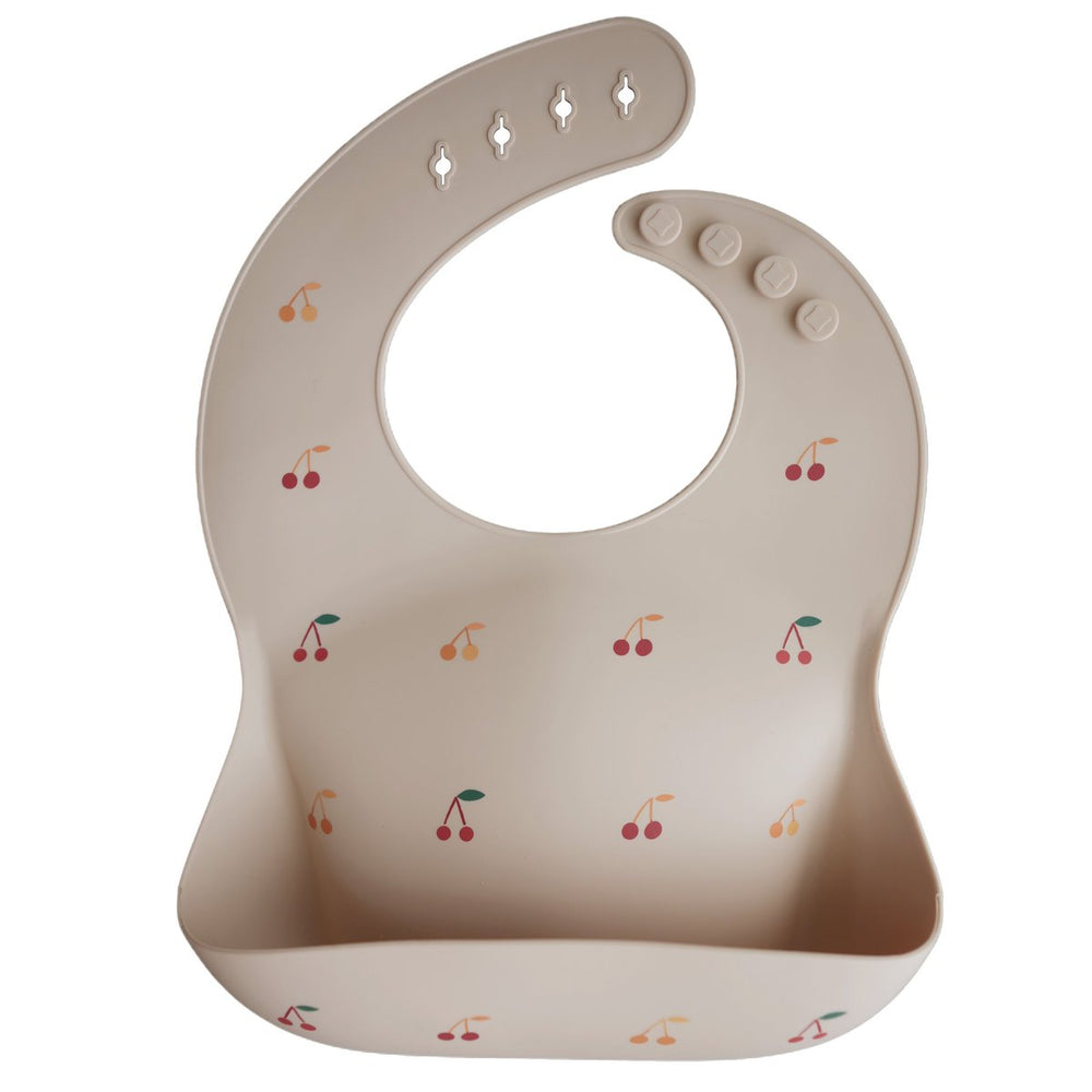 Mushie - Silicone Bib: Cherries