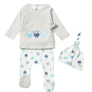 Piccalilly Sheep 3 Piece Baby Set