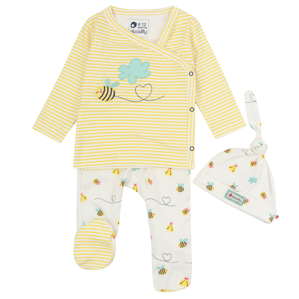 Piccalilly Bumblebee 3 Piece Baby Set