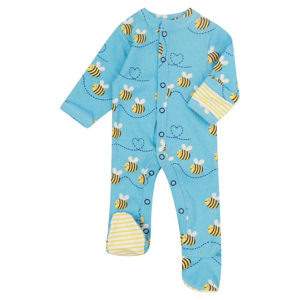 Load image into Gallery viewer, Piccalilly Bumblebee Footed Sleepsuit
