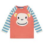Piccalilly Ape Face Raglan Top