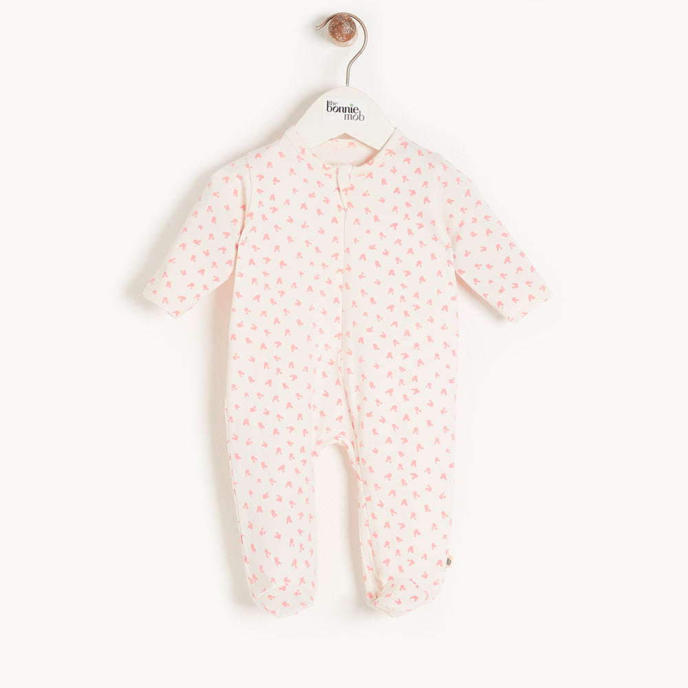 Load image into Gallery viewer, The Bonniemob - Sleepy Zip Sleepsuit, Pink