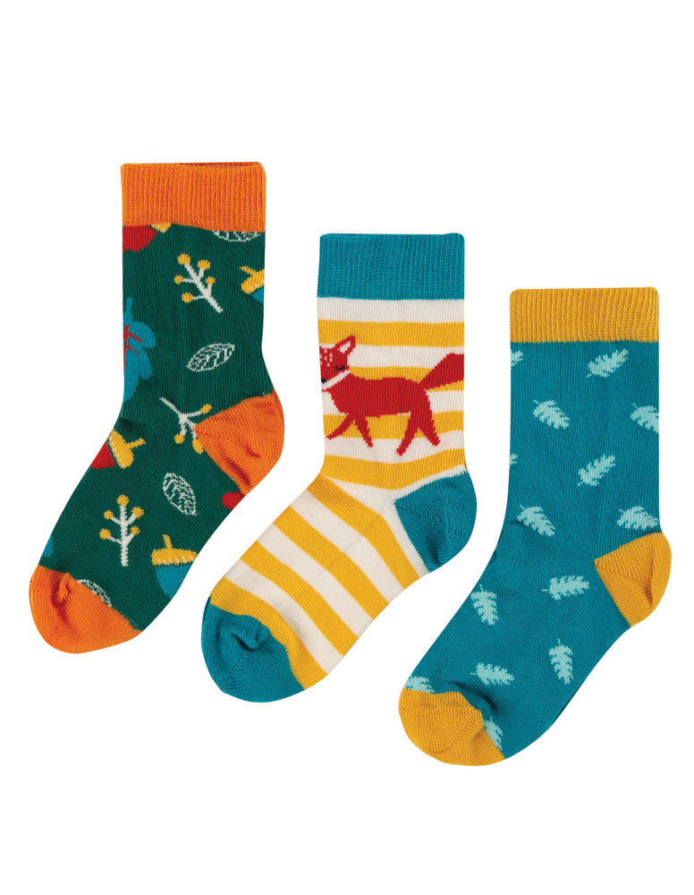 Frugi - Rock My Socks 3 Packs: Fox