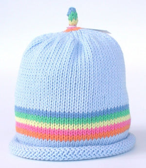 Load image into Gallery viewer, Merry Berries - 'Rainbow Stripe sky' Hat