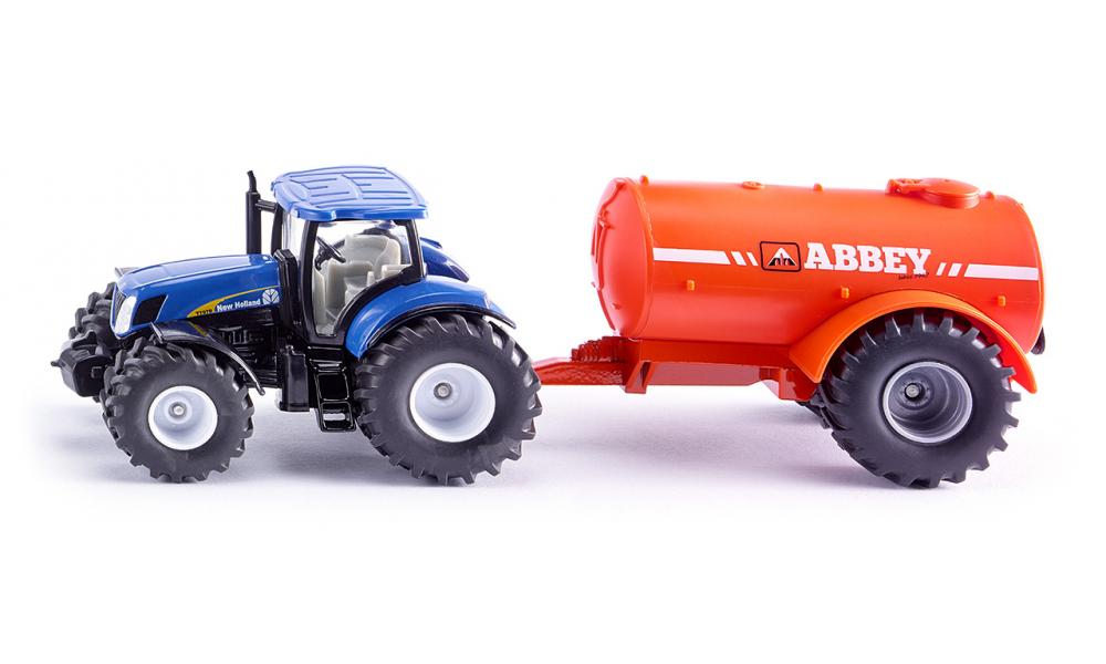 Siku - 1:50 New Holland with Single Axle Abbey Tanker 1945