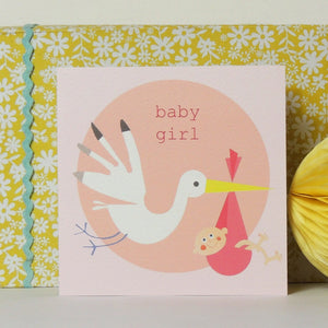 Kali Stileman - Baby Girl Stork Card