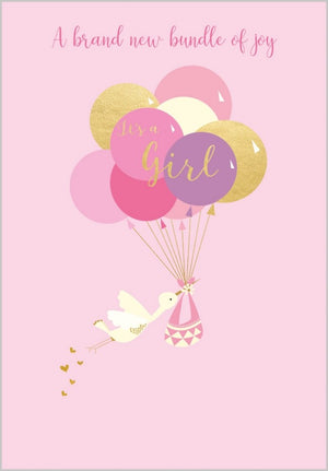 Papersalad - Lovely baby Girl Card