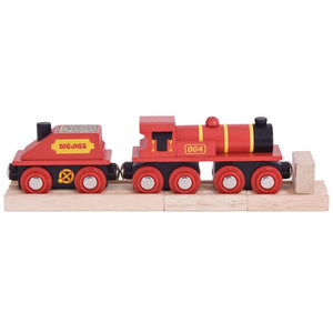 Bigjigs  - Wooden Train Red