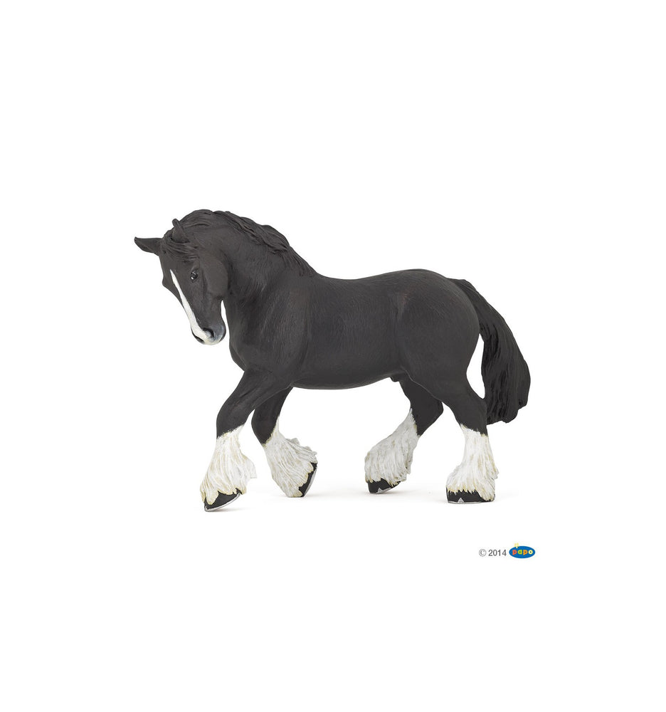 Load image into Gallery viewer, Papo - Black Shire Horse