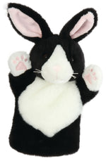 CarPet Glove Puppet - Black and White Rabbit