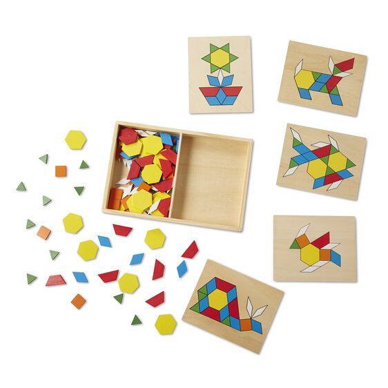 Load image into Gallery viewer, Melissa and Doug - Pattern Blocks and Board