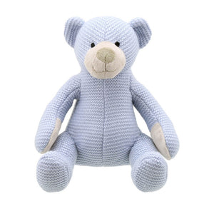 Wilberry - Knitted Bear Small Blue