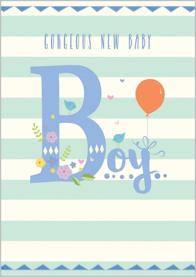 Gorgeous New Baby Boy Card