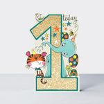 Age 1 - Cat and Elephant Card