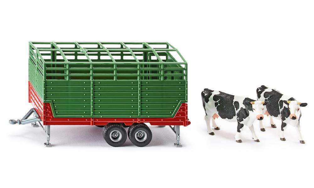 Siku - 1:32 Cattle Trailer with 2 Cows2875