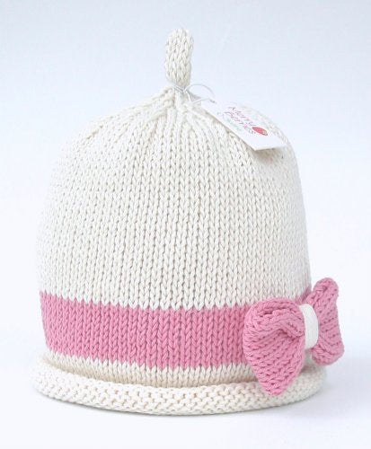 Merry Berries - Cream/Dusky Pink Bow Hat