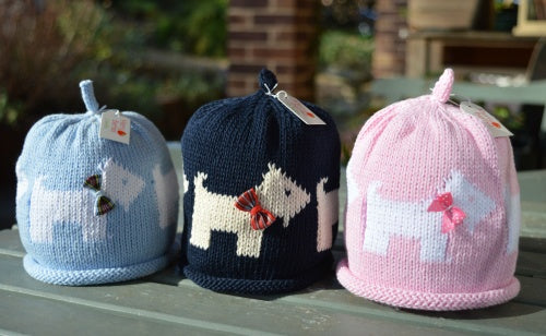 Merry Berries - Pink /White 'Scottie' Hat