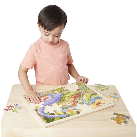 Load image into Gallery viewer, Melissa and Doug Dinosaur Jigsaw 24 pc
