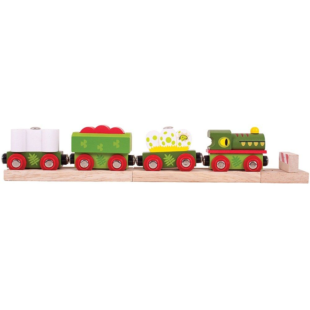 Bigjigs - Dinosaur Wooden Train