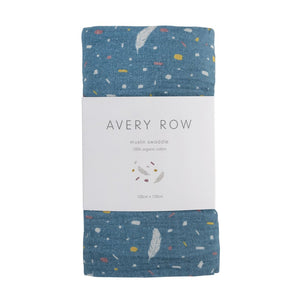Avery Row - Muslin Swaddle - Feathers