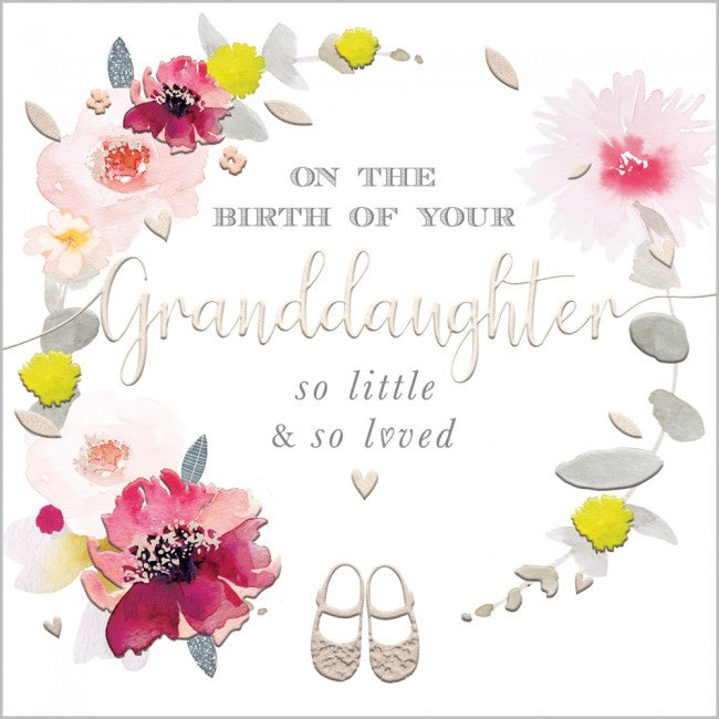 On The Birth Of Your Granddaughter - Card