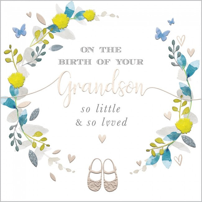 On The Birth Of Your Grandson - Card