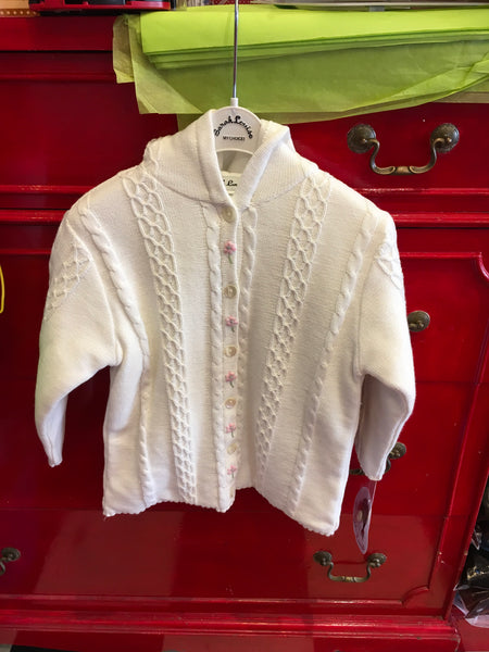 Sarah Louise Ivory Knitted Jacket 008024