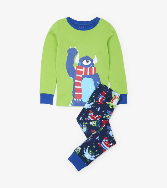 Hatley cozy monster Applique pjs