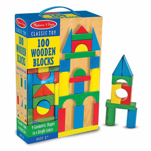 Load image into Gallery viewer, Melissa and Doug 100 wooden blocks