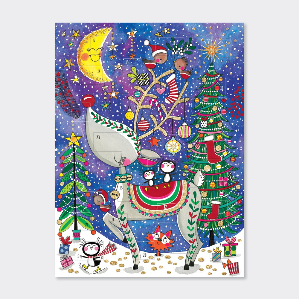 Rachel Ellen Designs - Advent Calendar; Reindeer and Moon