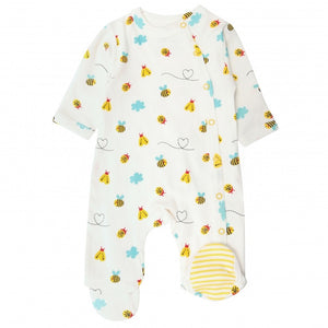 Piccalilly Little Wings Wrapover Footed Sleepsuit