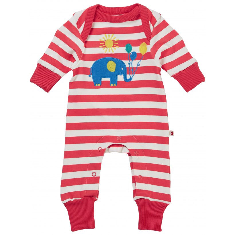 Piccalilly Party Elephant Applique Playsuit