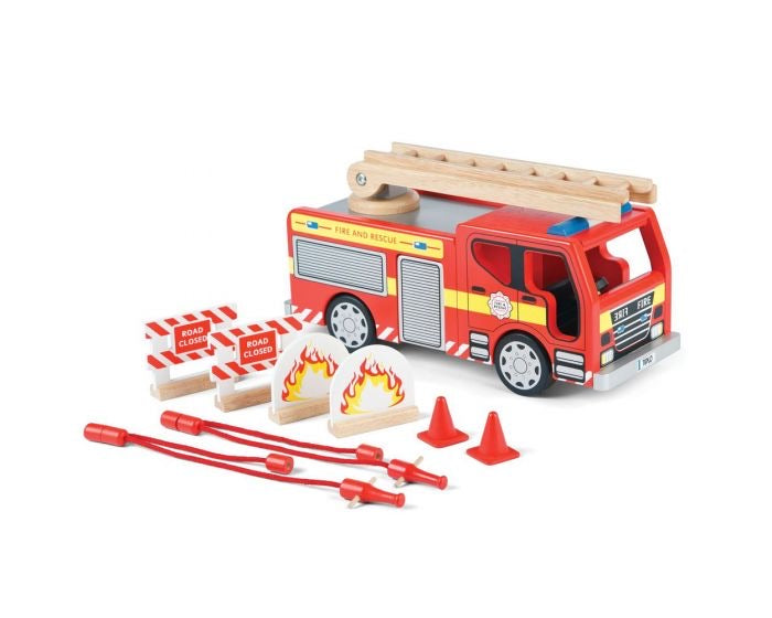 Tidlo  - Fire Engine & Accessories Set