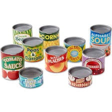 Melissa and Doug Canned Food Play