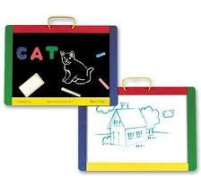 Melissa and Doug -  Magnetic Chalk Board and Dry-erase Board