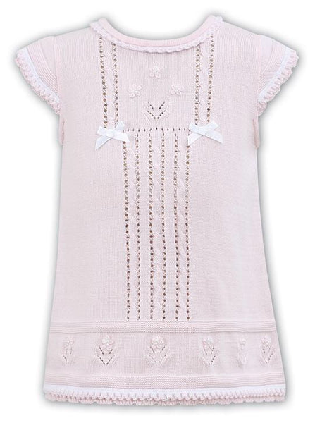 Sarah Louise Pink Knitted Dress 008076