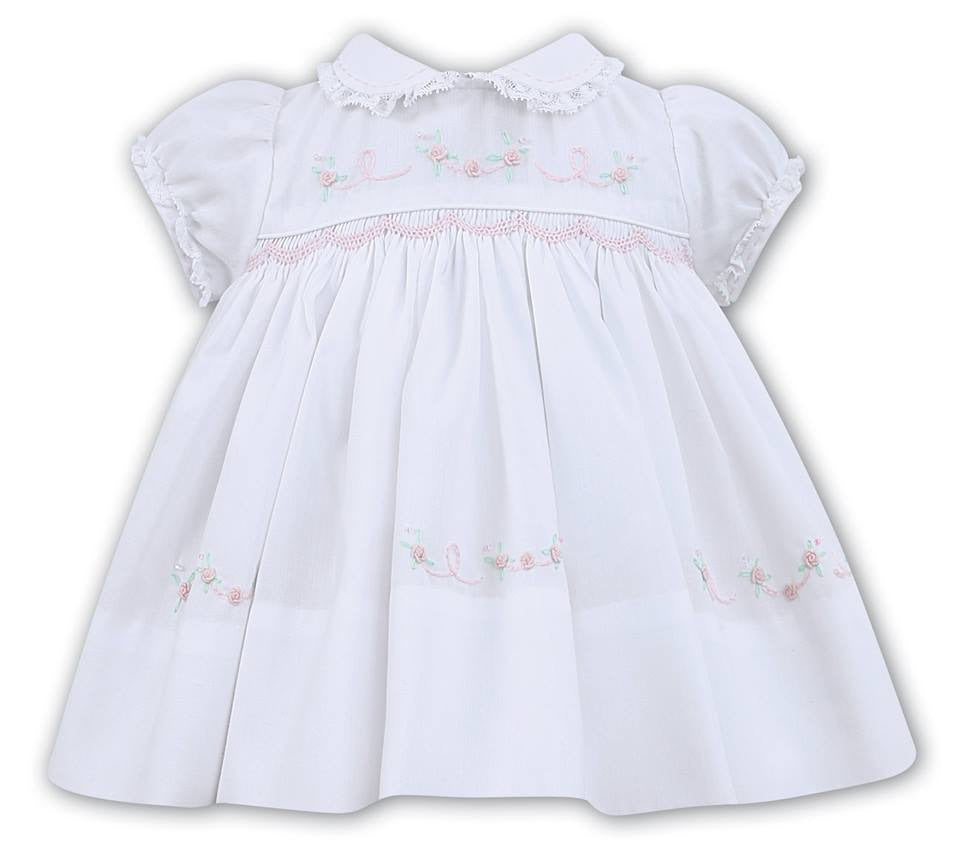 Sarah Louise White Smocked Dress 012452