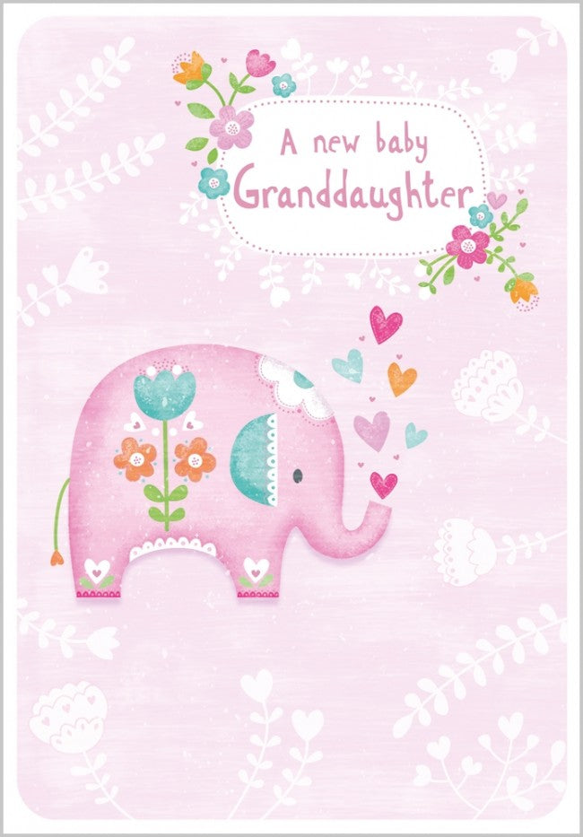 A New Baby Granddaughter Card