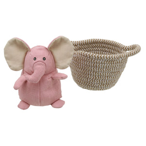 Wilberry -  Pet in a Basket Elephant