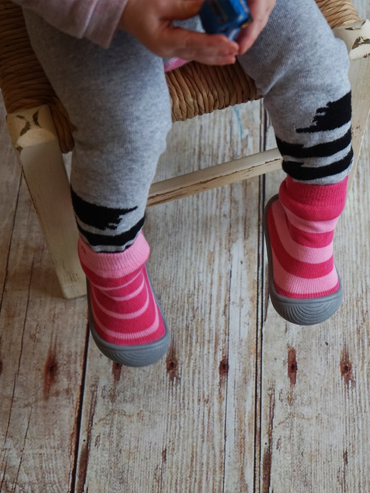 Load image into Gallery viewer, Blade and Rose - Pink Stripe Sock Shoes
