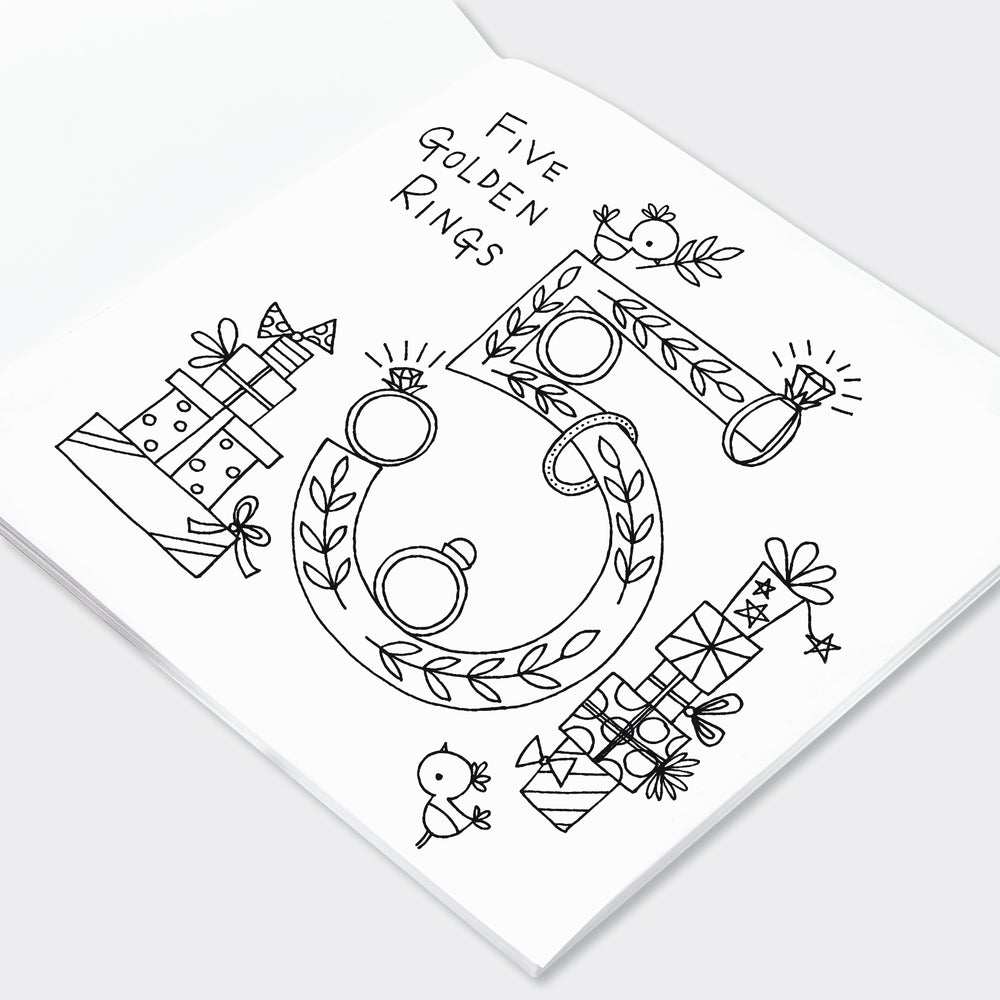 Rachel Ellen - 12 Days of Christmas Colouring Book