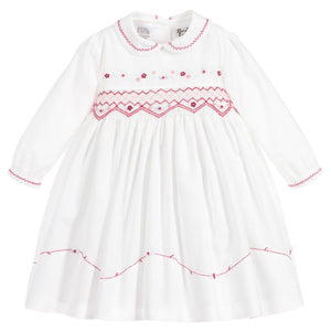 Sarah Louise Ivory smocked Dress
