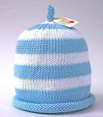 Merry Berries - Sky Blue/White Stripe