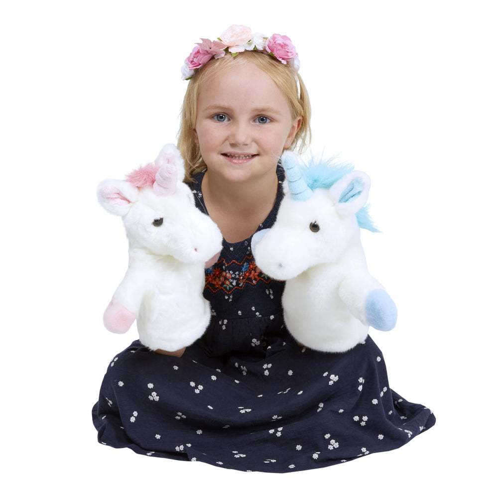 CarPet Glove Puppet - Blue Unicorn